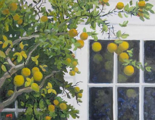 "Marmalade Tree, 18"" x 24"""