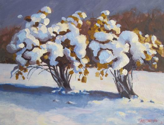 "Winter Hydrangea, 11"" x 14"""
